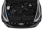 Car Stock 2020 Hyundai Sonata Limited 4 Door Sedan Engine  high angle detail view