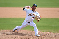 Oakland Athletics pitcher Brendan McCurry (62) during an Instructional League game against the San Francisco Giants on October 15, 2014 at Papago Park Baseball Complex in Phoenix, Arizona.  (Mike Janes/Four Seam Images)
