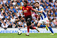 Fred of Manchester United (17)  during the Premier League match between Brighton and Hove Albion and Manchester United at the American Express Community Stadium, Brighton and Hove, England on 19 August 2018. Photo by Edward Thomas / PRiME Media Images.