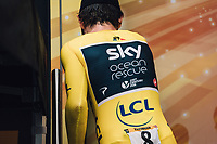 Picture by Russell Ellis/russellis.co.uk/SWpix.com - image archived on 25/04/2019 Cycling Tour de France 2018 - Team Sky at the Tour de France - STAGE 20: SAINT-PÉE-SUR-NIVELLE - ESPELETTE 28/07/2018 ITT Individual Time Trial<br /> - Geraint Thomas