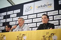Sylvain Chavanel (FRA/IAM) at the pré-race press conference in Leeds<br /> <br /> Tour de France 2014