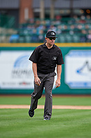 Umpire Bobby Tassone during a Midwest League game between the Kane County Cougars and Fort Wayne TinCaps at Parkview Field on May 1, 2019 in Fort Wayne, Indiana. Fort Wayne defeated Kane County 10-4. (Zachary Lucy/Four Seam Images)