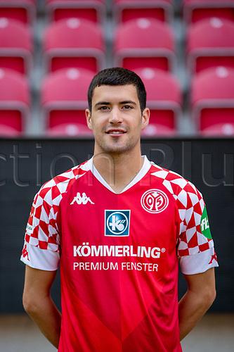 16th August 2020, Rheinland-Pfalz - Mainz, Germany: Official media day for FSC Mainz players and staff; Aaron Martin Caricol FSV Mainz 05