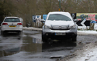 Flood water causes problems as the snow melts following snowfall at Foots Cray Meadow, Sidcup, Kent, England on the 9 February 2021. Photo by Alan Stanford.