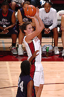 13 November 2005: Jillian Harmon during Stanford's 92-65 win over Love and Basketball at Maples Pavilion in Stanford, CA.