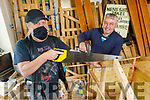 John Goddard and John Dunne working hard at the Tralee Mens Shed in Tralee on Thursday.