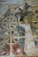 Europe/France/Aquitaine/24/Dordogne/Périgord Noir/Saint-Geniès: Fresques de la chapelle du Cheylard (14 ème) Martyr de Sainte-Catherine
