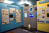 One of the many exhibits at the Pacific Tsunami Museum in downtown Hilo, Big Island of Hawai'i.