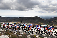 14th March 2020, Paris to Nice cycling tour, final day, stage 7;  General view of the peleton riding through the French mountains during stage 7 of the 78th edition of the Paris - Nice cycling race, a stage of 166,5km with start in Nice and finish in Valdeblore La Colmiane on March 14, 2020 in Valdeblore La Colmiane, France
