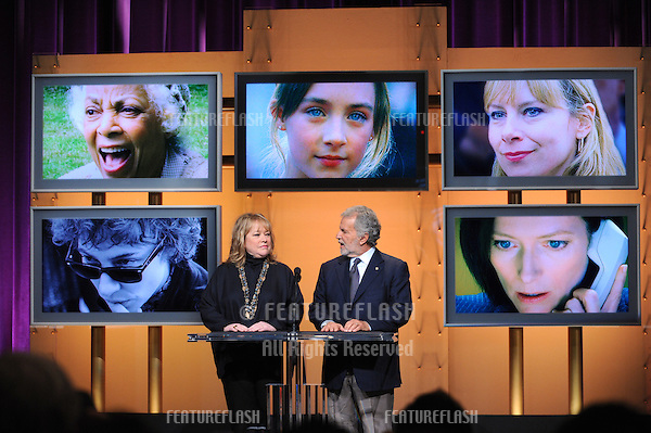 Academy of Motion Picture Arts and Sciences President Sid Ganis & actress Kathy Bates announcing the nominees for the 80th Academy Awards..January 22, 2008  Beverly Hills, CA.Picture: Paul Smith / Featureflash