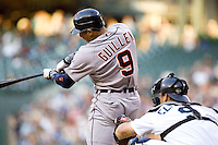 July 5, 2008:  The Detroit Tigers' Carlos Guillen at-bat during a game against the Seattle Mariners at Safeco Field in Seattle, Washington..