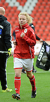 20151007 - LIEGE , BELGIUM : Standard 's  Charlotte Tison pictured during the female soccer match between STANDARD Femina de Liege and 1. FFC Frankfurt , in the 1/16 final ( round of 32 ) first leg in the UEFA Women's Champions League 2015 in stade Maurice Dufrasne - Sclessin in Liege. Wednesday 7 October 2015 . PHOTO DAVID CATRY