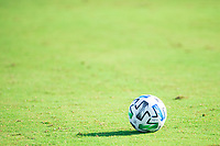 LAKE BUENA VISTA, FL - JULY 9: MLS Adidas match ball during a game between New York City FC and Philadelphia Union at Wide World of Sports on July 9, 2020 in Lake Buena Vista, Florida.