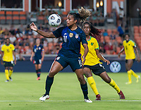 HOUSTON, TX - JUNE 13: Catarina Macario #11 of the USWNT controls the ball during a game between Jamaica and USWNT at BBVA Stadium on June 13, 2021 in Houston, Texas.