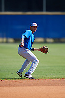 Toronto Blue Jays Emerson Jimenez (56) during practice before a Minor League Spring Training Intrasquad game on March 14, 2018 at Englebert Complex in Dunedin, Florida.  (Mike Janes/Four Seam Images)