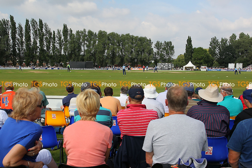 General view of a bumper crowd at Castle Park - Essex Eagles vs Derbyshire Falcons - Yorkshire Bank YB40 Cricket at Castle Park, Colchester Cricket Club - 25/08/13 - MANDATORY CREDIT: Gavin Ellis/TGSPHOTO - Self billing applies where appropriate - 0845 094 6026 - contact@tgsphoto.co.uk - NO UNPAID USE