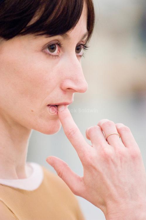 Daria klimentova, senior principal dancer with English National Ballet during rehearsals