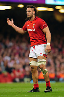 Pictured: Josh Navidi of Wales in action during the Guinness six nations match between Wales and England at the Principality Stadium, Cardiff, Wales, UK.<br /> Saturday 23 February 2019