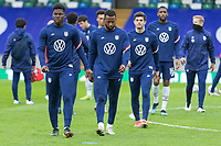 BELFAST, NORTHERN IRELAND - MARCH 28: Yunus Musah of the United States during a game between Northern Ireland and USMNT at Windsor Park on March 28, 2021 in Belfast, Northern Ireland.