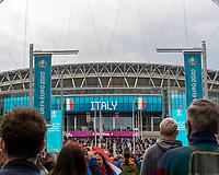 6th July 2021; Wembley Stadium, London, England; Euro 2020 Football Championships semi-final, Italy versus Spain;  Fans outside Wembley stadium