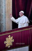 Pope Francis Urbi et Orbi Christmas Day of St. Peter's Basilica in Vatican ,25 December 2015