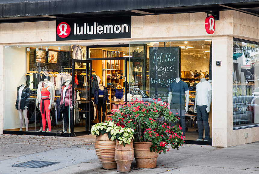 A Lululemon storefront location.