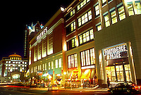 shopping mall, Providence, Rhode Island, RI, Providence Place Mall in downtown Providence in the evening.