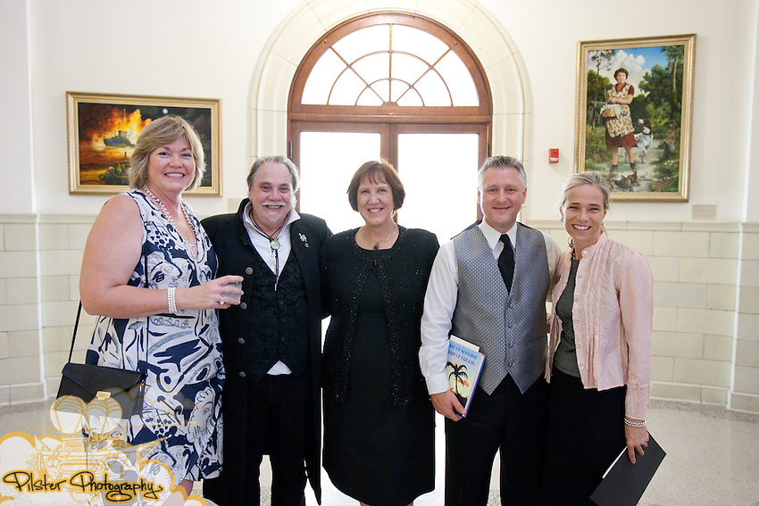 The Museum of Florida Art and the Legendary Florida Society present A Historic Portrait in Sound on Saturday, September 18, 2010 during the pre-event Gala at the Volusia County Historical Courthouse DeLand, Florida. It then moved to the Athens Theater for the performance. The music was based off of Legendary Florida, Florida History Paintings by Jackson Walker. Before the performance a gala took place at the Historic Volusia County Courthouse where Walker's paintings  are hanging. It was composed by Robert Kerr and conducted by Dr. Monte Musgrave. (Chad Pilster, PilsterPhotography.net for the Museum of Florida Art)