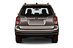 Straight rear view of a 2019 Subaru Forester Luxury 5 Door SUV stock images