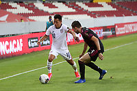 GUADALAJARA, MEXICO - MARCH 24: Sebastian Saucedo #10 of the United States during a game between Mexico and USMNT U-23 at Estadio Jalisco on March 24, 2021 in Guadalajara, Mexico.
