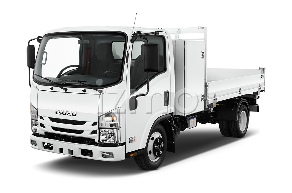 2019 Isuzu N-Serie Base 2 Door Pick Up angular front stock photos of front three quarter view