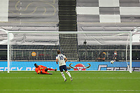 29th September 2020; Tottenham Hotspur Stadium, London, England; English Football League Cup, Carabao Cup, Tottenham Hotspur versus Chelsea; Harry Kane of Tottenham Hotspur scores his penalty in the shoot out