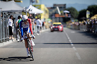 Thibaut Pinot (FRA/Groupama-FDJ) rolling over the finish line<br /> <br /> Stage 13 (ITT): Pau to Pau(27km)<br /> 106th Tour de France 2019 (2.UWT)<br /> <br /> ©kramon