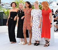 CANNES, FRANCE. July 6, 2021: Maggie Gyllenhaal, Jessica Hausner, Mati Diop, Melanie Laurent, Mylene Farmer at the photocall for the Jury at the 74th Festival de Cannes.<br /> Picture: Paul Smith / Featureflash