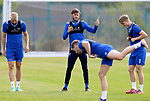 St Johnstone Training...  McDiarmid Park<br />Murray Davidson pictured talking with Cammy Ballantyne during training ahead of Saturday's opening league game of the season at Ross County.<br />Picture by Graeme Hart.<br />Copyright Perthshire Picture Agency<br />Tel: 01738 623350  Mobile: 07990 594431