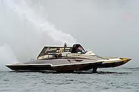 "13-14 June, 2009, APBA Inboards, Walled Lake, Novi, MI. USA.Steve Kuhr, GNH-317 ""The Irishman"", Grand National Hydroplane.©F. Peirce Williams 2009 USA.F.Peirce Williams.photography.ref: RAW (.NEF) File Available"