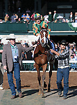 April 04, 2015:   Lovely Maria and Kerwin Clark win the 78th running of The Central Bank Ashland Grade 1 $500,000 at Keeneland Racecourse for owner Brereton C. Jones and trainer Larry Jones.   Candice Chavez/ESW/CSM