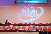 Empty seats reserved for delegates to the Trades Union Congress annual conference, Brighton.