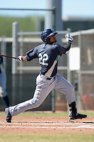Seattle Mariners outfielder Corey Simpson (22) during an instructional league game against the Kansas City Royals on October 2, 2013 at Surprise Stadium Training Complex in Surprise, Arizona.  (Mike Janes/Four Seam Images)