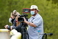 Live stream cameraman during the Greene King IPA Championship match between Ampthill RUFC and Jersey Reds at Dillingham Park, Ampthill, England on 1 May 2021. Photo by David Horn.