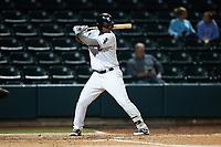 Lazaro Leal (30) of the Winston-Salem Dash at bat against the Greensboro Grasshoppers at Truist Stadium on August 11, 2021 in Winston-Salem, North Carolina. (Brian Westerholt/Four Seam Images)