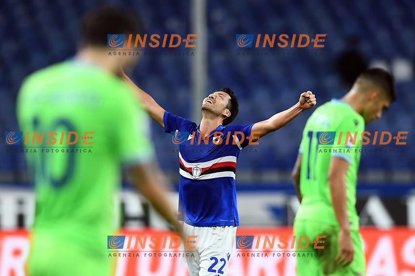 Maya Yoshida celebrates during the Serie A football match between UC Sampdoria and SS Lazio at stadio Marassi in Genova (Italy), October 17th, 2020. <br /> Photo Image Sport / Insidefoto