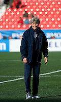 US head coach Pia Sundhage. The US Women's National Team defeated the Canadian Women's National Team, 4-0, at BMO Field in Toronto during an international friendly soccer match on May 25, 2009.