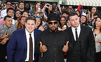 WESTWOOD, LOS ANGELES, CA, USA - JUNE 10: Jonah Hill, Ice Cube, Channing Tatum at the World Premiere Of Columbia Pictures' '22 Jump Street' held at the Regency Village Theatre on June 10, 2014 in Westwood, Los Angeles, California, United States. (Photo by Xavier Collin/Celebrity Monitor)