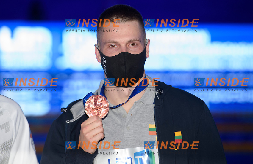 Bronze Medal<br /> RAPSYSDanas LTU<br /> 400m Freestyle Men Final<br /> Swimming<br /> Budapest  - Hungary  17/5/2021<br /> Duna Arena<br /> XXXV LEN European Aquatic Championships<br /> Photo Giorgio Perottino / Deepbluemedia / Insidefoto