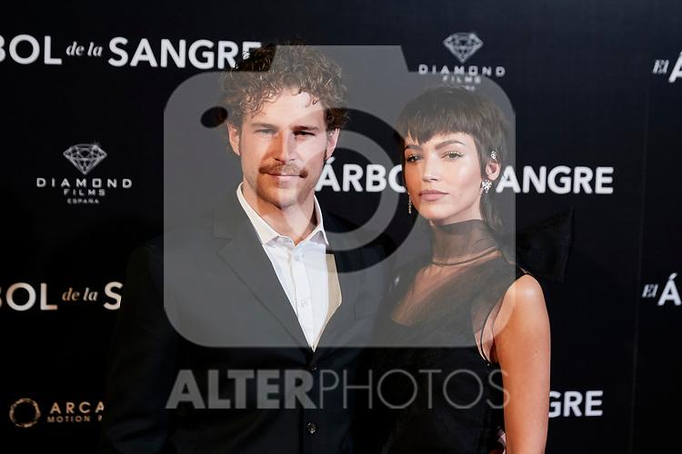 Alvaro Cervantes and Ursula Corbero attends to 'El Arbol de la Sangre' premiere at Capitol cinema in Madrid, Spain. October 24, 2018. (ALTERPHOTOS/A. Perez Meca)