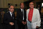 GIANCARLO LEONE, FLAVIO MUCCIANTE E RENZO ARBORE<br /> CONFERENZA STAMPA PREMIO AGNES<br /> RAI ROMA 2014