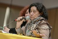 """BOGOTÁ -COLOMBIA. 10-10-2014. Socorro Gomes, presidenta Consejo Mundial de Paz, interviene durante el encuentro por la """"Dignidad de las Víctimas del Genocidio contra La UP"""" realizado hoy, 10 de octuber de 2014, en la ciudad de Bogotá./ Socorro Gomes, president of World Peace Council, in her speech during the meeting for the """"Dignity of Victims of Genocide against The UP"""" took place today, October 10 2014, at Bogota city. Photo: Reiniciar /VizzorImage/ Gabriel Aponte<br /> NO VENTAS / NO PUBLICIDAD / USO EDITORIAL UNICAMENTE / USO OBLIGATORIO DELCREDITO"""