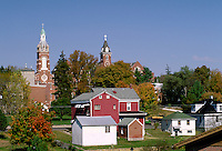 "Oldenburg, Indiana is known as the """"Village of Spires"""". The Convent of the Immaculate Conception and Academy was founded in 1851. Oldenburg Indiana."