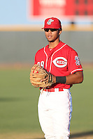 Leandro Santana (29) of the AZL Reds before a game against the AZL Brewers at Cincinnati Reds Spring Training Complex on July 5, 2015 in Goodyear, Arizona. Reds defeated the Brewers, 9-4. (Larry Goren/Four Seam Images)
